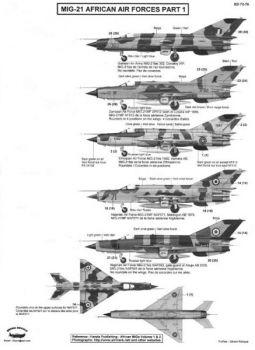 BD72076 MiG-21bis/M/MF Fishbed afrikanische Luftstreitkräfte #1