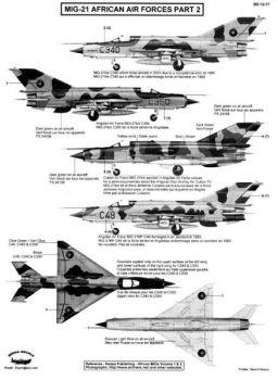 BD72077 MiG-21bis/MF Fishbed afrikanische Luftstreitkräfte #2