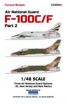 CD48004 F-100C/F Super Sabre New Mexico, DC & New Jersey ANG