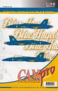 CPS4818 F/A-18A/B Hornet Blue Angels, U. S. Navy, Saison 2006