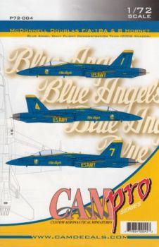 CPS7204 F/A-18A/B Hornet Blue Angels, U. S. Navy, Saison 2006