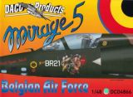 DCD4866 Mirage 5BA/BD/BR belgische Luftwaffe