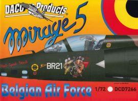 DCD7266 Mirage 5BA/BD/BR belgische Luftwaffe