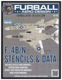 FBD4813 F-4B/N Phantom II Stencils & Data