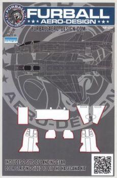 FBD48014 F-4 Phantom II Red Landing Gear Door Edges (Hasegawa)