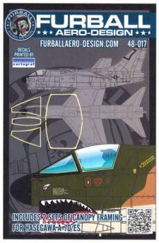 FBD48017 A-7D/E Corsair II Canopy Seals