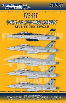 FTD48061 F/A-18F Super Hornet VFA-32 Swordsmen