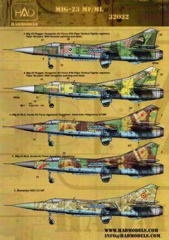 HU32032 MiG-23 Flogger ungarische, rumänische & sowjetische Luftwaffe