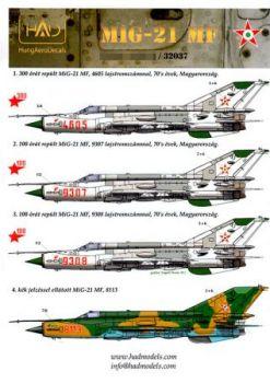 HU32037 MiG-21MF Fishbed-J ungarische Luftwaffe