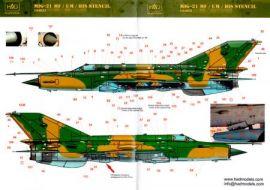 HU44023 MiG-21MF/bis/UM Fishbed/Mongol Warn- und Wartungshinweise