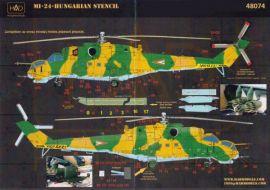 HU48074 Mi-24 Hind Warn- und Wartungshinweise ungarische Luftwaffe