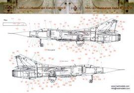 HU48110 MiG-23 Flogger Warn- und Wartungshinweise ungarische Luftwaffe