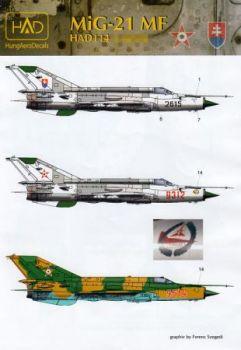 HU48114 MiG-21MF Fishbed-J slowakische und ungarische Luftwaffe