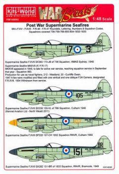 KW48092 Seafire F.XV, F.XVII, FR.46, FR.47 allgemeine Markierungen