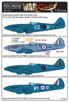 KW72084 Spitfire PRU.XIX allgemeine Markierungen
