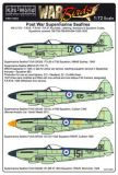 KW72085 Seafire F.XV, F.XVII, FR.46, FR.47 allgemeine Markierungen