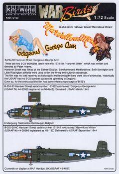 KW72100 B-25J Mitchell: Gorgeous George Ann & Marvellous Miriam