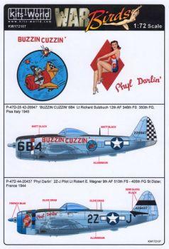 KW72107 P-47D Thunderbolt: Buzzin Cuzzin & Phyl Darlin