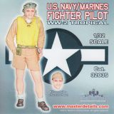 MD32035 Jägerpilot U. S. Navy/Marines WK II in Tropenuniform