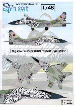 SY48046 MiG-29 Fulcrum-A Slovak Tiger