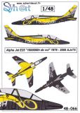 SY48066 Alpha Jet E Special Finish 1,000,000 Flying Hours